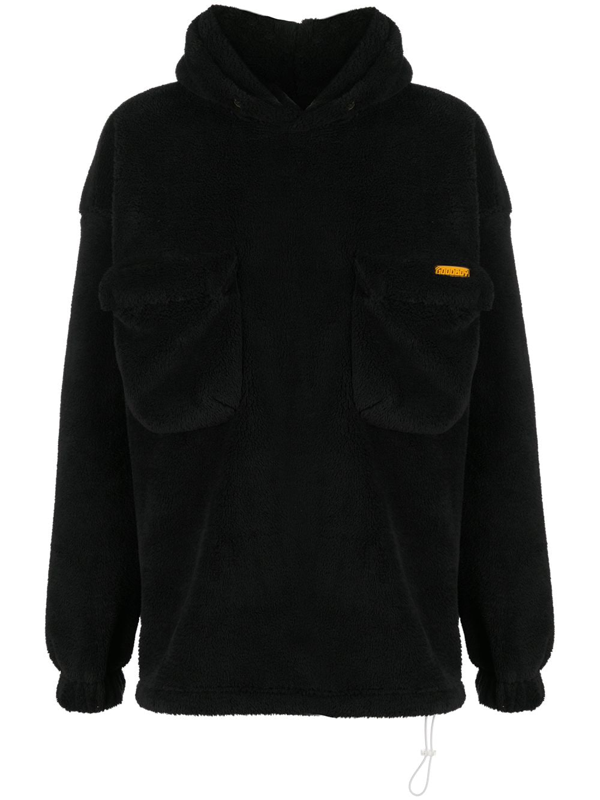 Goodboy Oversized Faux Fur Hoodie In Black