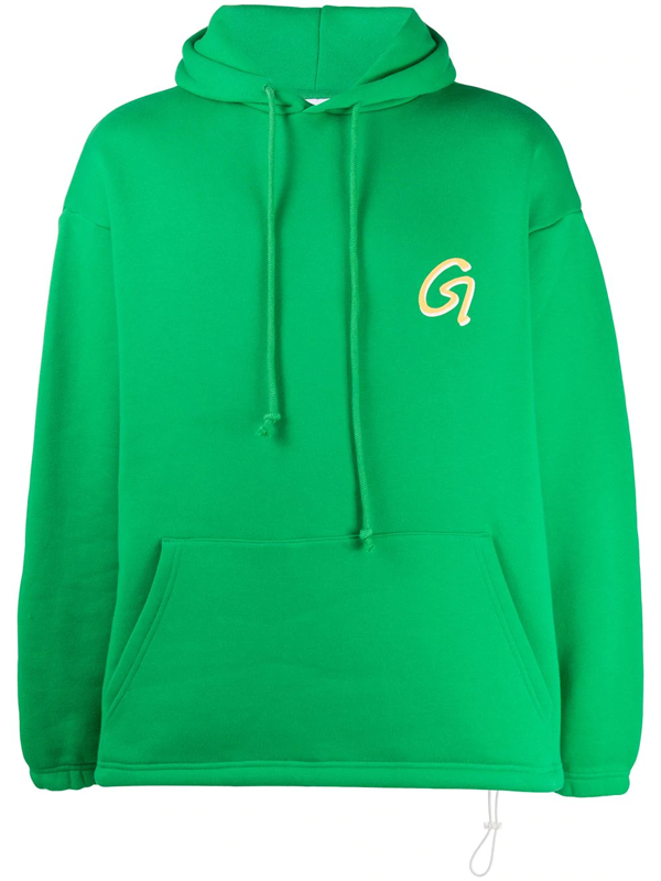 Goodboy Oversized Logo Print Hoodie In Green