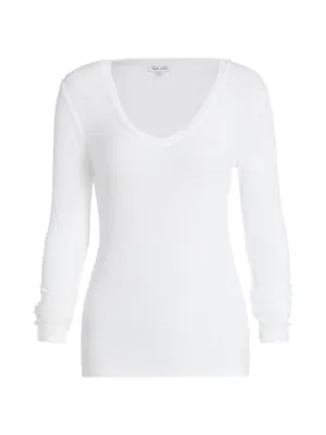 Splendid Women's Valley V-neck T-shirt In White