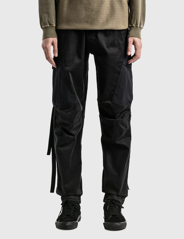 Maharishi Woven Cargo Track Pants In Black
