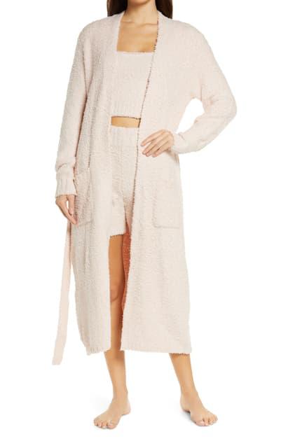 Skims Cozy Knit Boucle Robe In Dusk