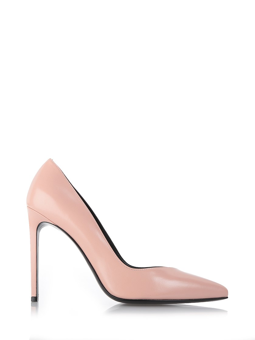 Saint Laurent 'paris Skinny' Pointy Toe Pump (women) In Pale Pink Leather