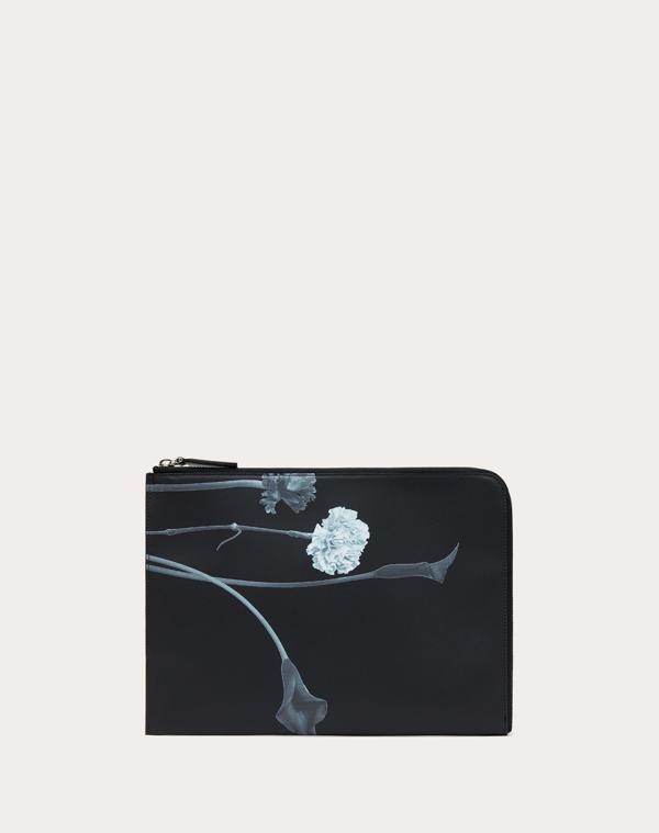 Valentino Garavani Uomo Flowersity Pouch In Black