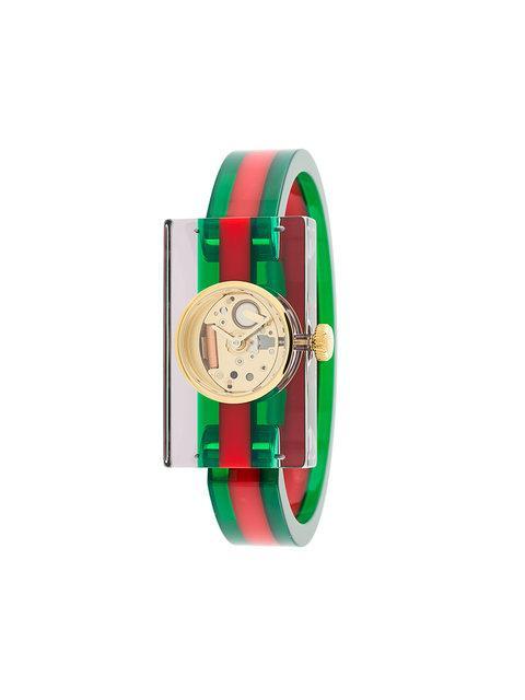 dfe9173ccae Gucci Ya143501 Plexiglas Bangle Watch In Gold