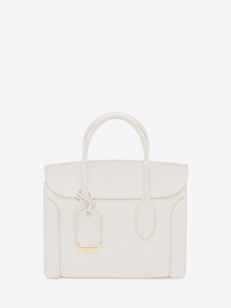 bfac39bf14869 Alexander Mcqueen Heroine 30 Small Sweet Calf Leather Tote Bag, Off White
