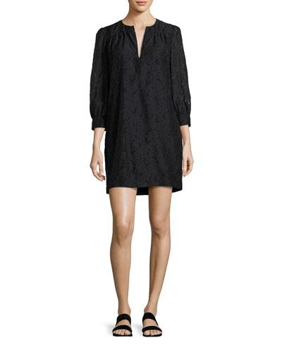 Elizabeth And James Heidi Full-Body Three-Quarter Sleeve Dress, Black
