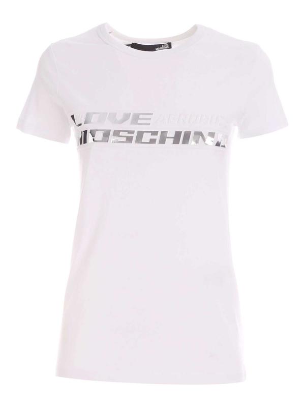 Love Moschino Embossed Logo Print T-shirt In White
