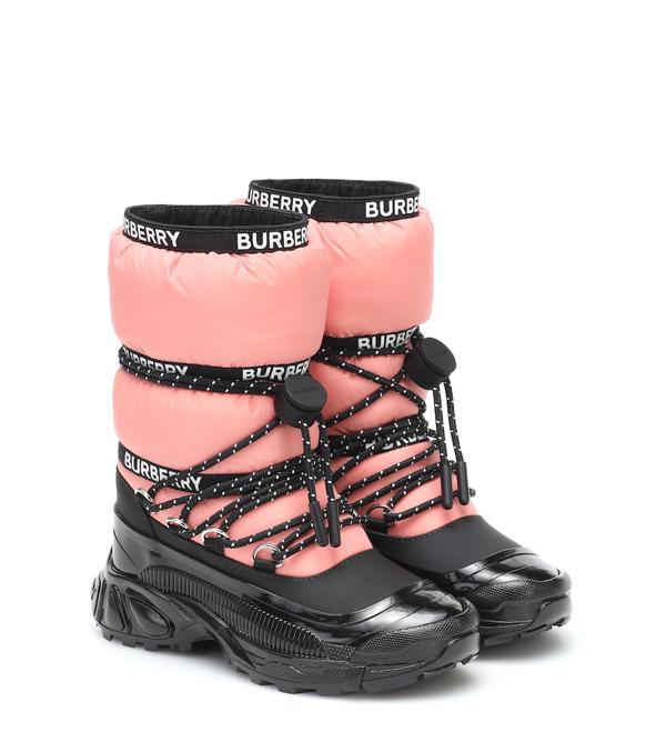 Burberry Kids' Pink Aldenham Winter Boots