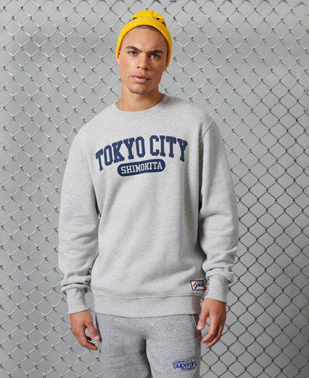 Superdry Übergrosses City College Sweatshirt In Green