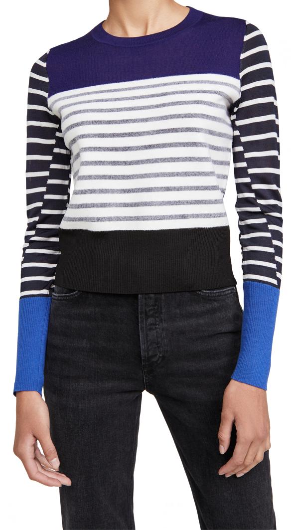 Rag & Bone Women's Marissa Contrast Stripe Sweater In Blue