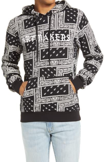 Elevenparis Jaras Bandana Print Hooded Sweatshirt In Black