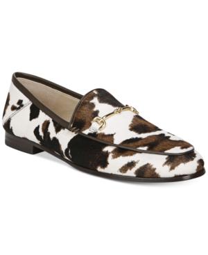 Sam Edelman Women's Loraine Bit Loafers Women's Shoes In White /brown Cowhide Multi