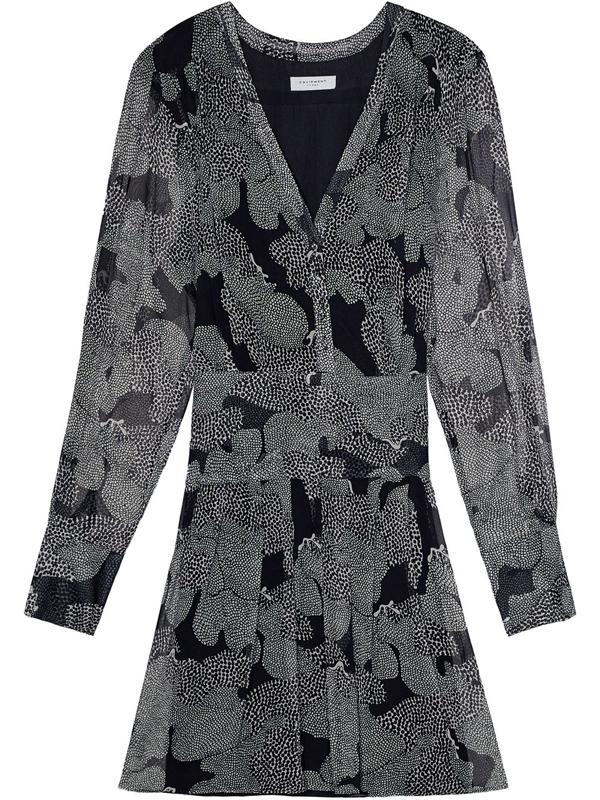 Equipment Women's Lisle Long-sleeve Dress In Black