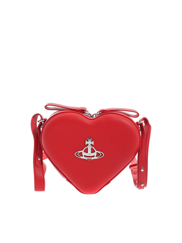 Vivienne Westwood Johanna Heart Crossbody Bag In Red