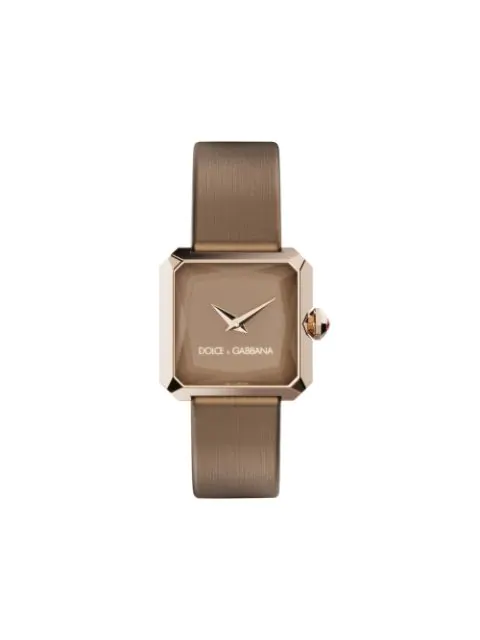 Dolce & Gabbana Sofia Square-face 11mm Watch In Brown