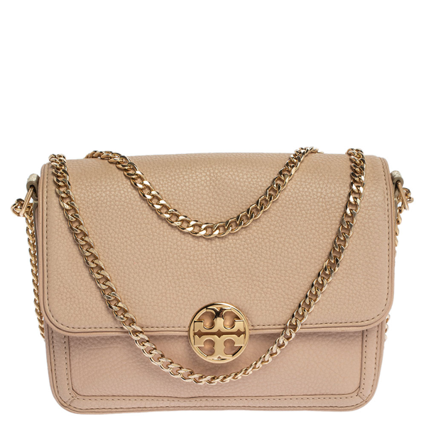 Pre-owned Tory Burch Powder Pink Leather Chelsea Chain Shoulder Bag