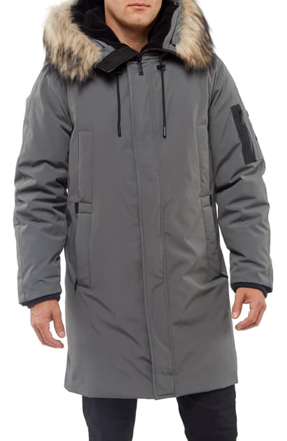 Vince Camuto Down & Feather Fill Parka In Grey
