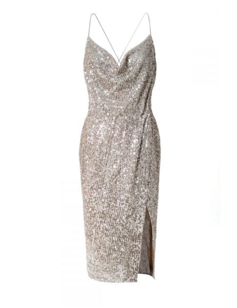 Aggi Dress Kim Champagne In Silver