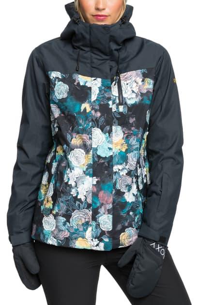 Roxy Jetty 3-in-1 Waterproof Hooded Jacket In True Black Sammy