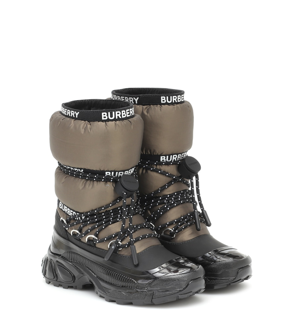 Burberry Kids' Snow Boots In Green