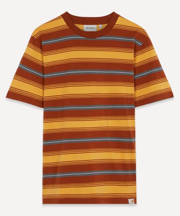 Carhartt Buren Stripe T-shirt In Stripe Brandy