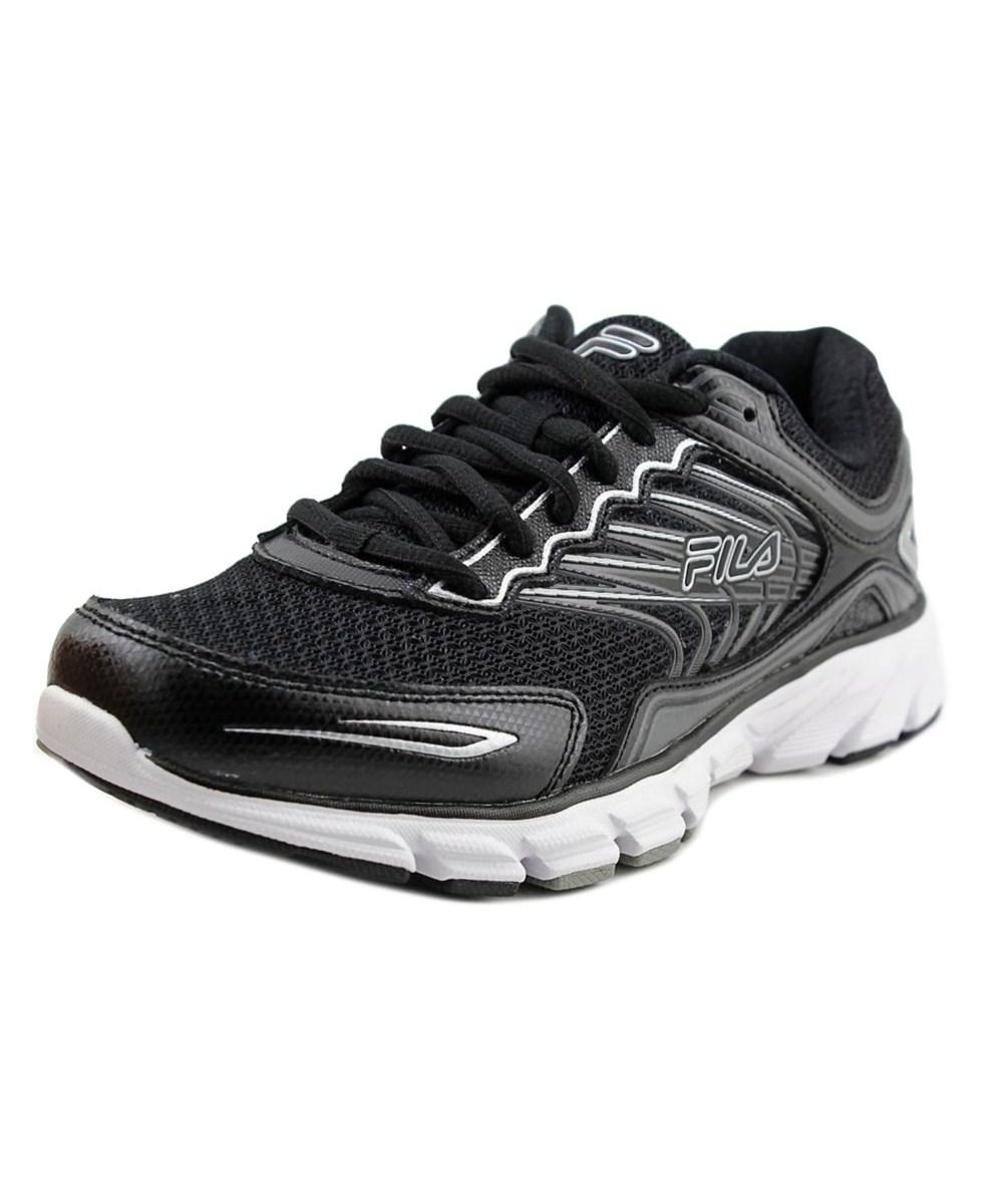 Fila Shoe Synthetic Round Maranello Toe Running 4 Men Memory Black 6gfb7Yy