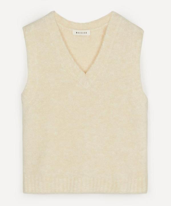 Masscob Cecilia Alpaca-blend Sweater Vest In Panna