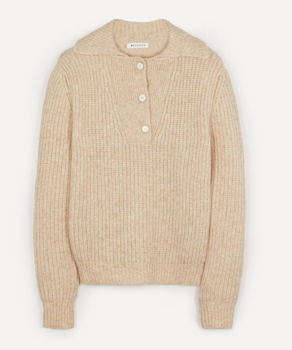 Masscob Hansen Oversized Alpaca-blend Sweater In Natural