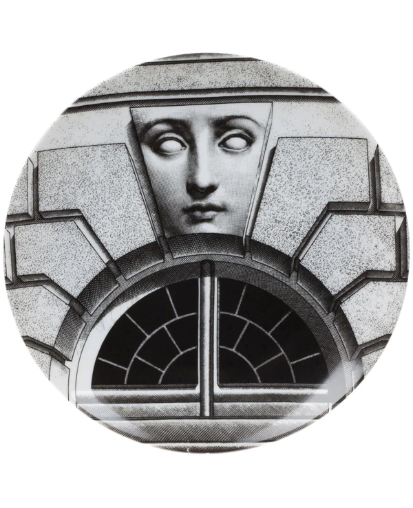 Fornasetti Plate In White