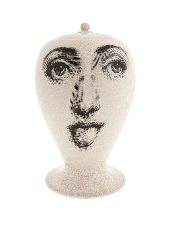 """Fornasetti Jar By """"bitossi Ceramiche"""" In White"""