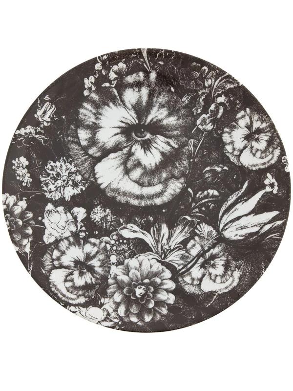 Fornasetti Plate In Black