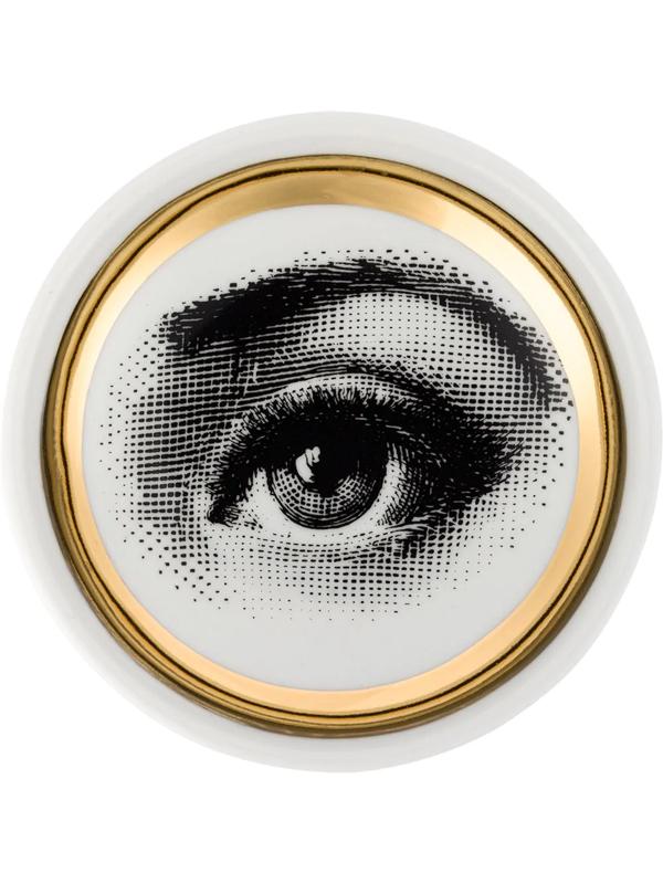 Fornasetti Printed Ashtray In Grey
