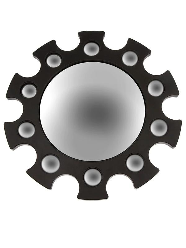 Fornasetti Inverted Scallop Mirror In Black