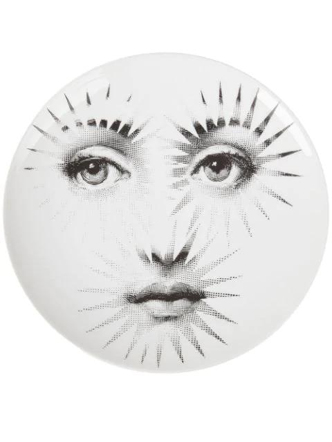 Fornasetti Plate In White