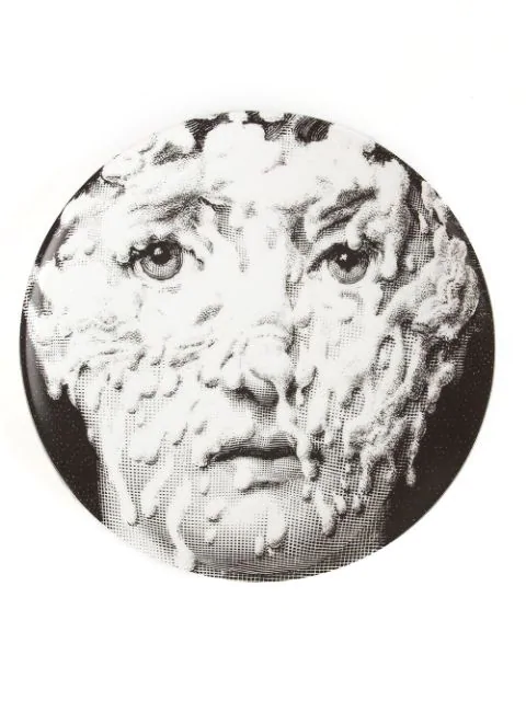 Fornasetti Printed Plate In Black