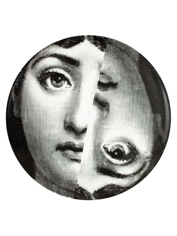 L'eclaireur Made By Fornasetti Printed Plate In Black