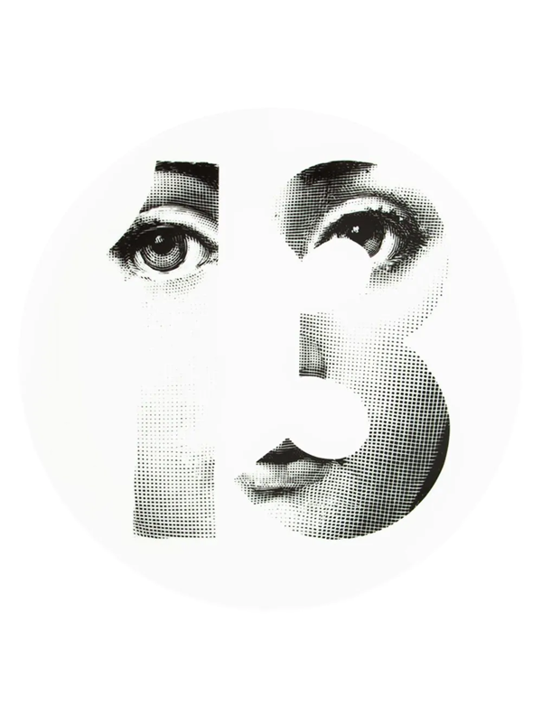 L'eclaireur Made By Fornasetti Printed Plate In White