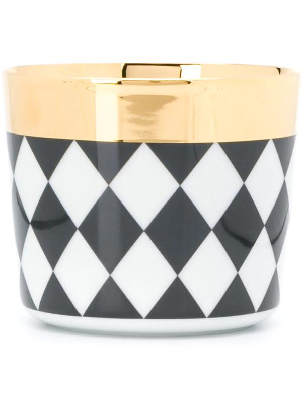 Fürstenberg Diamond-patterned Cup In Black