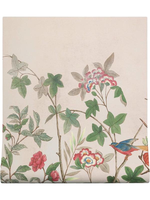 Gucci Plant Print Wallpaper In Neutrals