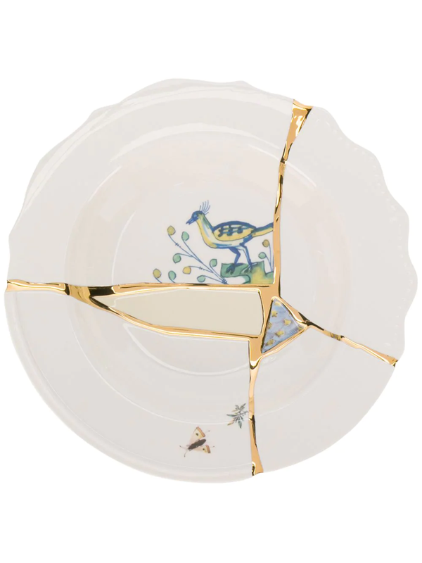 Seletti Kintsugi Dessert Plate (24cm) In White