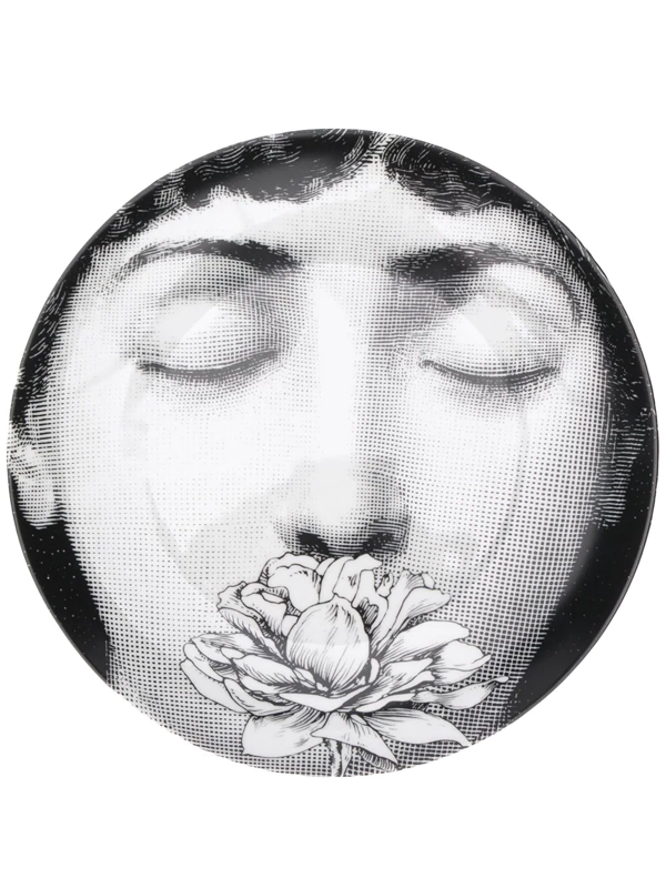 Fornasetti Printed Face Plate In Black