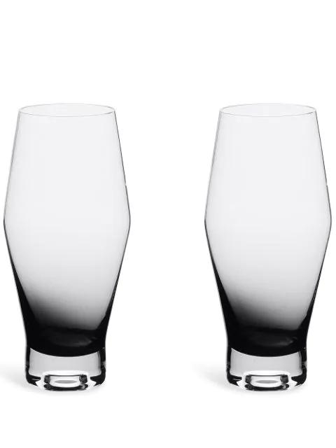 Tom Dixon Tank Beer Glasses (set Of 2) In Black