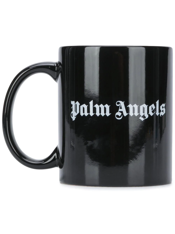 Palm Angels Logo-print Mug In Black