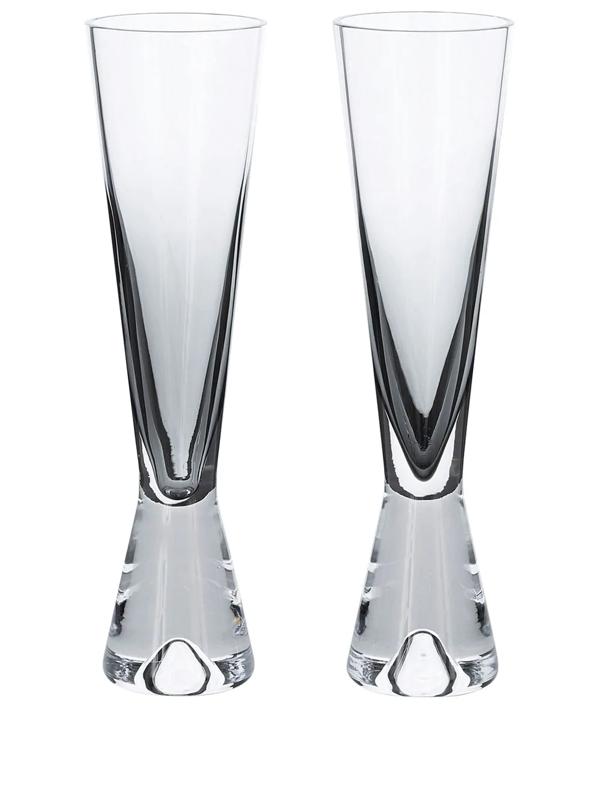 Tom Dixon Tank Champagne Glasses (set Of 2) In White