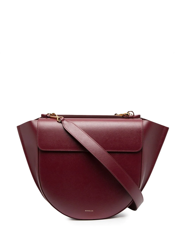 Wandler Big Hortensia Bag In Cherry Caviar