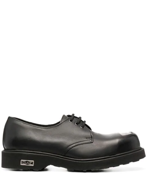 Cult Bolt Metal Toe Derby Shoes In Black