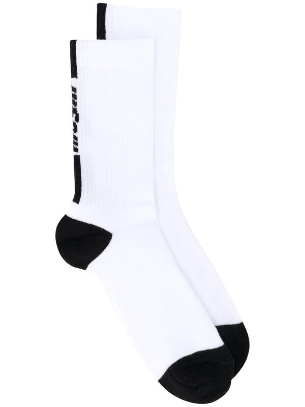 Msgm White Cotton Socks