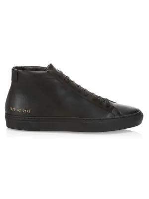 Common Projects Men's Men's Original Achilles Mid-top Sneakers In Black