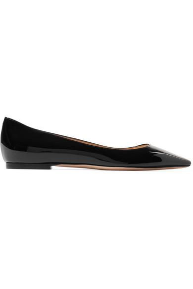 ad0d5edcea26 Jimmy Choo Women s Romy Leather Pointed Toe Ballet Flats In Black ...