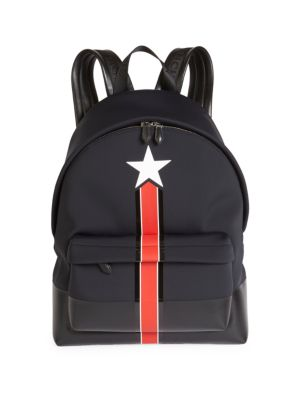 77f152ed20 Givenchy Star And Stripe Neoprene Backpack In Black Red